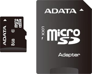фото Карта памяти Карта памяти ADATA MicroSDHC 8GB Class 10 + SD adapter