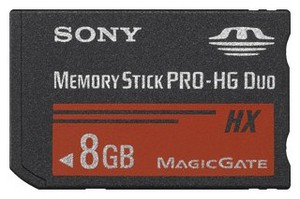 фото Карта памяти Карта памяти Sony Memory Stick PRO-HG DUO 8GB MS-HX8B