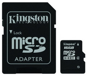 Фото флеш-карты Kingston MicroSDHC 16GB Class 2