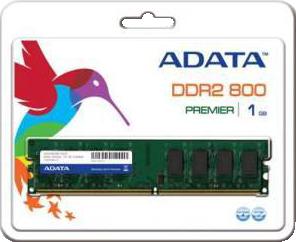 фото Оперативная память ADATA AD2U800B1G6-R DDR2 1GB DIMM