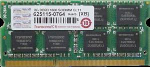 фото Оперативная память Transcend JM1600KSH-8G DDR3 8GB SO-DIMM