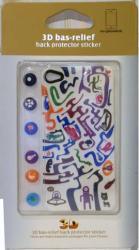 Наклейка на заднюю крышку Apple iPhone 4 Red Line Барельеф 3D разноцветная SotMarket.ru 400.000