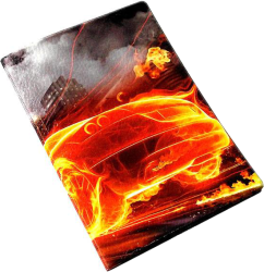 Фото чехла для паспорта Эврика N159 Машина огненная