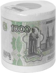 фото Туалетная бумага Эврика 1000 рублей мини