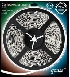 Фото светодиодная лента Gauss LED-5050-30LED-IP66-RGB многоцветная, 5050, 30 LED, 12V, IP66