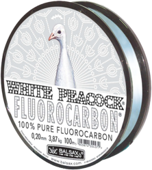 фото Леска BALSAX White Peacock Fluorocarbon 100м 0.18мм монофильная