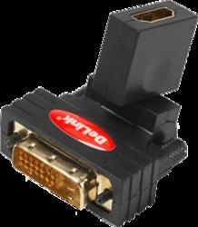 фото Переходник HDMI-DVI-D DeLink поворотный