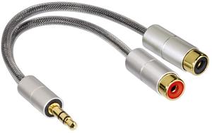 фото Мультимедийный аудио кабель 3.5 Jack(M) - 2xRCA(F) HAMA H-80859