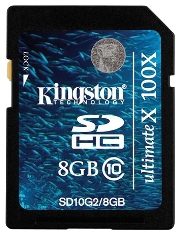 фото Карта памяти Карта памяти Kingston SD SDHC 8GB Class 10 SD10G2 UlmateX 100X