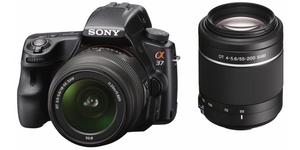 фото Цифровой фотоаппарат Sony Alpha SLT-A37 Kit 18-55, 55-200
