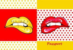 Фото чехла для паспорта Феникс Губы 35685