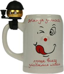 фото Пивная кружка со звонком Русские подарки 114321