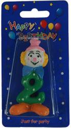 фото Свеча декоративная Русские подарки Клоун цифра 2 96099