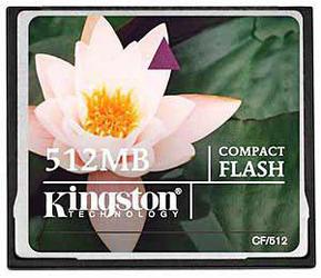Фото флеш-карты Kingston CF 512MB