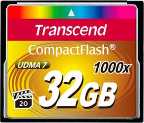 фото Transcend Compact Flash CF 32GB 1000x TS32GCF1000