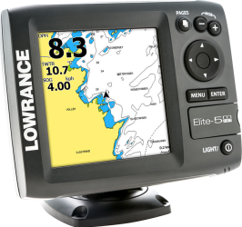 Фото эхолота Lowrance Elite-5m HD