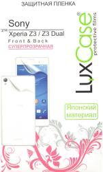 Фото защитной пленки для Sony Xperia Z3 dual LuxCase суперпрозрачная