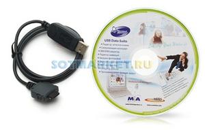 фото USB дата-кабель для Samsung P510 + CD Mobile Action MA-8250p