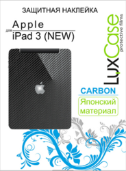 фото Защитная пленка для Apple iPad 3 LuxCase Back Карбон