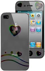 фото Защитная пленка для Apple iPhone 4 Heart Front&Back