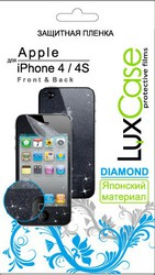 Защитная пленка для Apple iPhone 4S LuxCase Front&Back Антибликовая х2