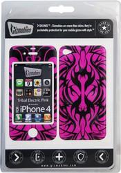 Фото виниловой наклейки на iPhone 4 Gizmobies 3D Tribal Electric Pink