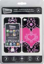 Наклейка для Apple iPhone 4 Gizmobies 3D Hearts Ornate