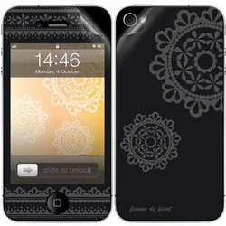 Защитная пленка для Apple iPhone 4 Pivot AO01-037 Floral Heart