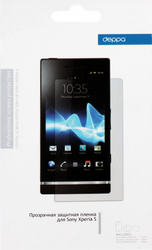 Фото защитной пленки для Sony Xperia S Deppa