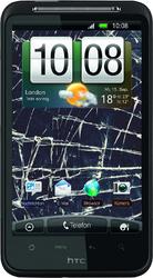 Фото виниловой наклейки на HTC Desire HD Vinil-Koritsa Разбитое стекло