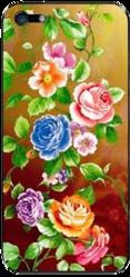 фото Наклейка на Apple iPhone 4 LuxCase Цветы дикие розы