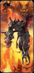 фото Наклейка на Apple iPhone 4 LuxCase Дракон