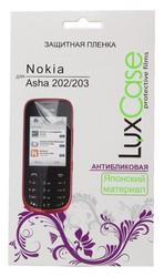 фото Защитная пленка для Nokia Asha 202 LuxCase антибликовая