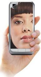 Защитная пленка для BlackBerry Storm 9500 Cellular Line Vanity SPUNIBIGVANITY2 зеркальная универсальная