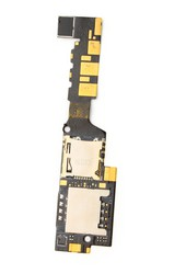фото Шлейф для HTC HD mini с разъемом под SIM карту и карту памяти